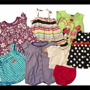 0-3M Baby Girls Summer Clothes Bundle (Like New)